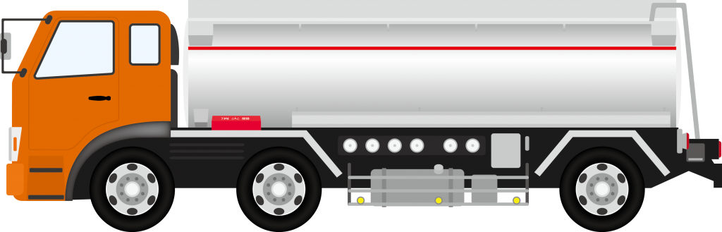 液状の産業廃棄物の運搬車両 タンクローリー
