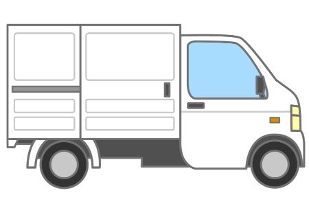 感染性廃棄物の収集運搬車両 屋根の付いた車 保冷機能